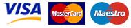 Kreditkarten werden akzeptiert